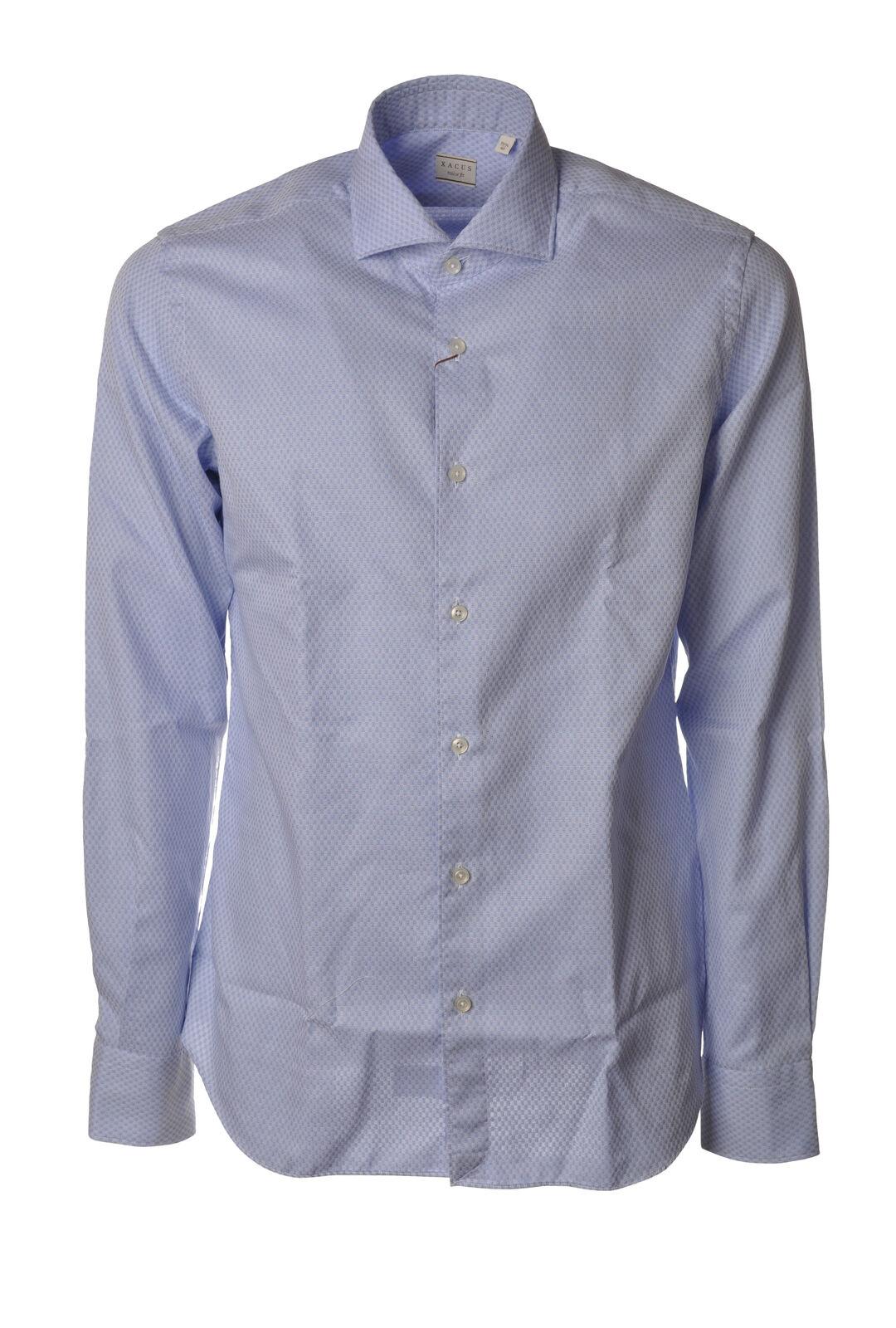 Xacus - T-shirts-Hemden-hals-frankreich - Mann - Blau - 6059323F191416