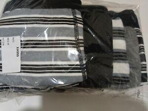 """Nouvelle Chemise à Rayures Noir et Blanc Boxer Shorts Sous-vêtements 5 Pack 50//52/""""J81"""