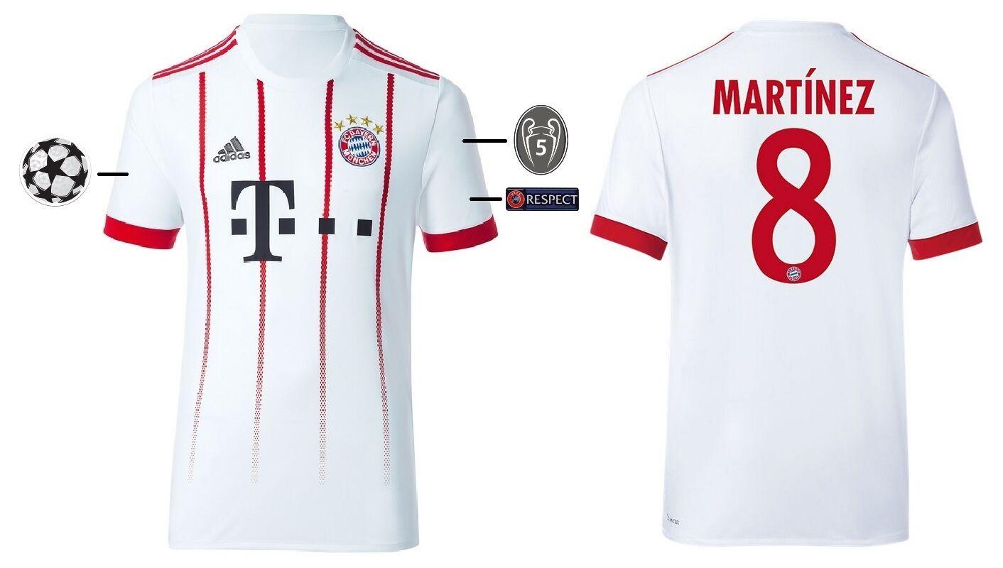 Trikot Adidas FC Bayern 2017-2018 Third - Martinez 8  Champions League  | Elegante Und Stabile Verpackung