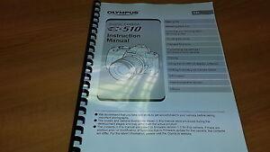 olympus e 510 digital camera printed instruction manual user guide rh ebay co uk olympus e 510 user manual Olympus E500