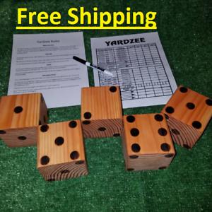 Yahtzee (Yardzee) Game with Big Dice
