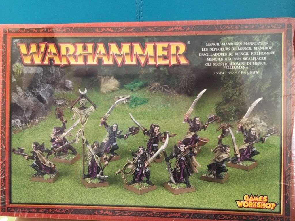 Juegos Workshop Warhammer Dark Elf Elves Mengil Manhides Manflayers BNIB New OOP