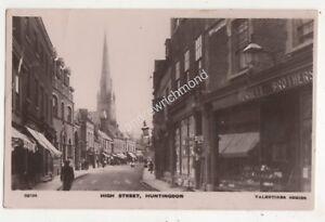 High Street Huntingdon 1910 RP Postcard 685b - Aberystwyth, United Kingdom - High Street Huntingdon 1910 RP Postcard 685b - Aberystwyth, United Kingdom