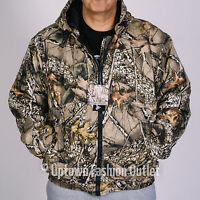 Men's Wfs Burly Camo Tan Hunting Insulated Full Zip Hooded Jacket Mcj101-409