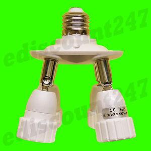 multi-directional-E27-to-4-GU10-Socket-Splitter-STUDIO-FOTOGRAFIA-Adattatore-UK