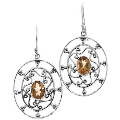 "Inventive 1 "" Cool Exquisite Citrin 925 Sterling Silber Ohrhänger Diamonds & Gemstones"