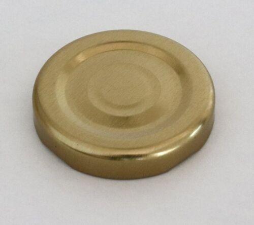 Metall Deckel Twist Off Gläserdeckel TO43 Kostenloser Versand T43 in Gold