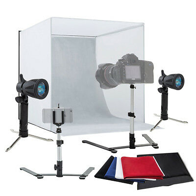 "24"" Light Room Photo Studio Photography Lighting Tent Kit Backdrop Cube Mini Box"