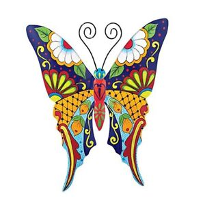 Image Is Loading Metal Butterfly Wall Art Outdoor Patio Garden Fence