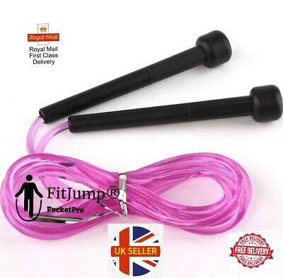 FitJump® PocketPro Adjustable 9FT 5mm Skipping Speed Jumping Rope Wear Resistant