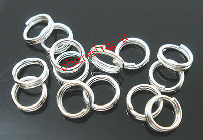 Strong-Willed 100 Pz Anellini Doppio Giro Colore Argento 6mm bijoux Fashion Jewelry