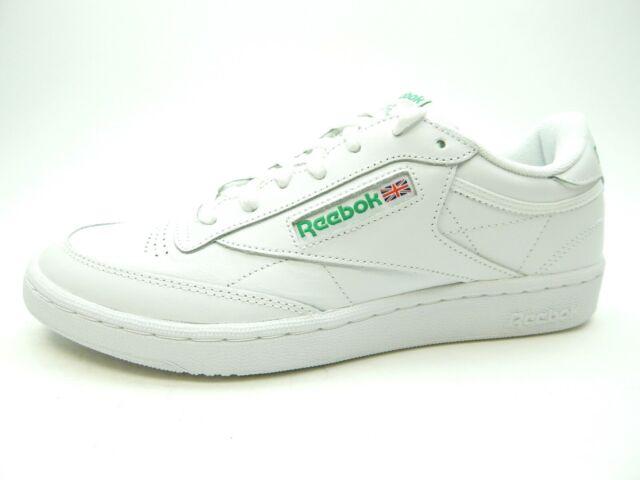 Reebok Classic Club C 85 Running Shoes Sneakers White Green AR0456 SZ 4-12.5