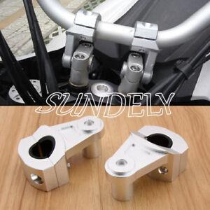 7-8-034-22mm-28mm-Silver-CNC-Motorcycle-HandleBar-Handle-Fat-Bar-Mount-Clamps-Riser
