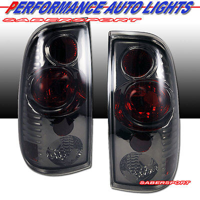 97-03 FORD F150 / 99-07 F250 F350 SUPERDUTY ALTEZZA SMOKE TAIL LIGHTS PAIR