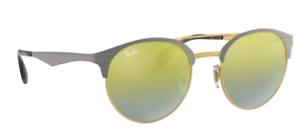 Ray-Ban-gafas-de-sol-rb3545-9007-a7-51mm-Double-redondo-Bridge-efecto-espejo-bp-l4-H