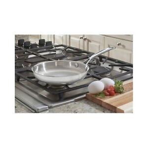 Cuisinart Stainless Steel Skillet Open Frying Pan 8 Inch
