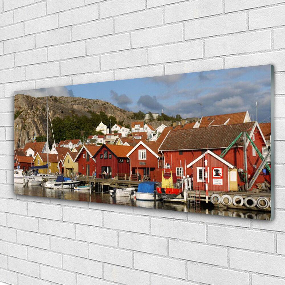 Tableau murale Impression sous verre 125x50 Paysage Ville