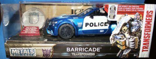 JADA 1//24 METALS DIE-CAST Transformers BARRICADE w//medallion