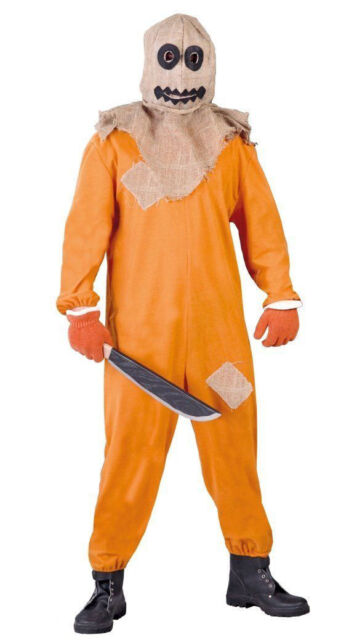 mens scarecrow costume pumpkin adult horror halloween fancy dress outfit 42 44