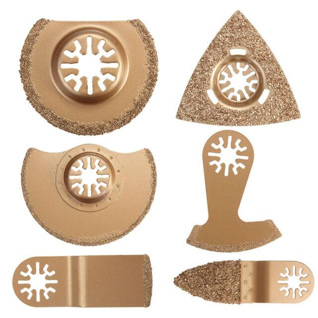 3pcs Set Carbide Oscillating Multi Tool Segment Saw Blades Tile Grout Cutter Kit