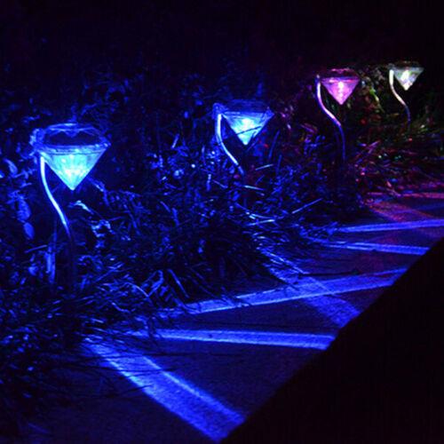 Bunt LED Solar Strass Licht Farbwechsel Lampe Yard Garten Leuchte Outdoor Außen