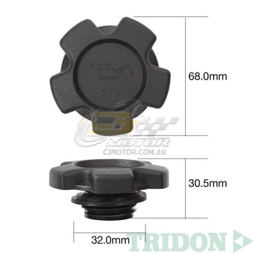 TRIDON OIL CAP FOR Holden Rodeo Diesel TF97 02//97-06//98 4 2.8L 4JB1T 8 TOC515