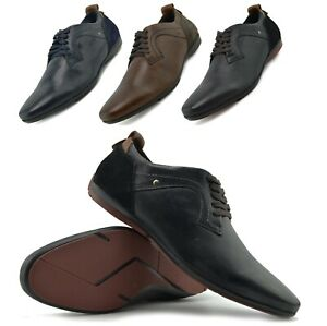 mens casual leather trainers office formal shoes fashion