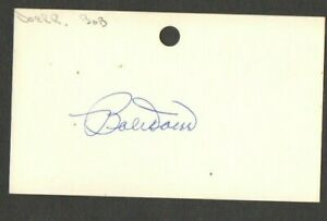 Bobby-Doerr-3x5-signed-auto-autographed-index-note-card-Red-Sox