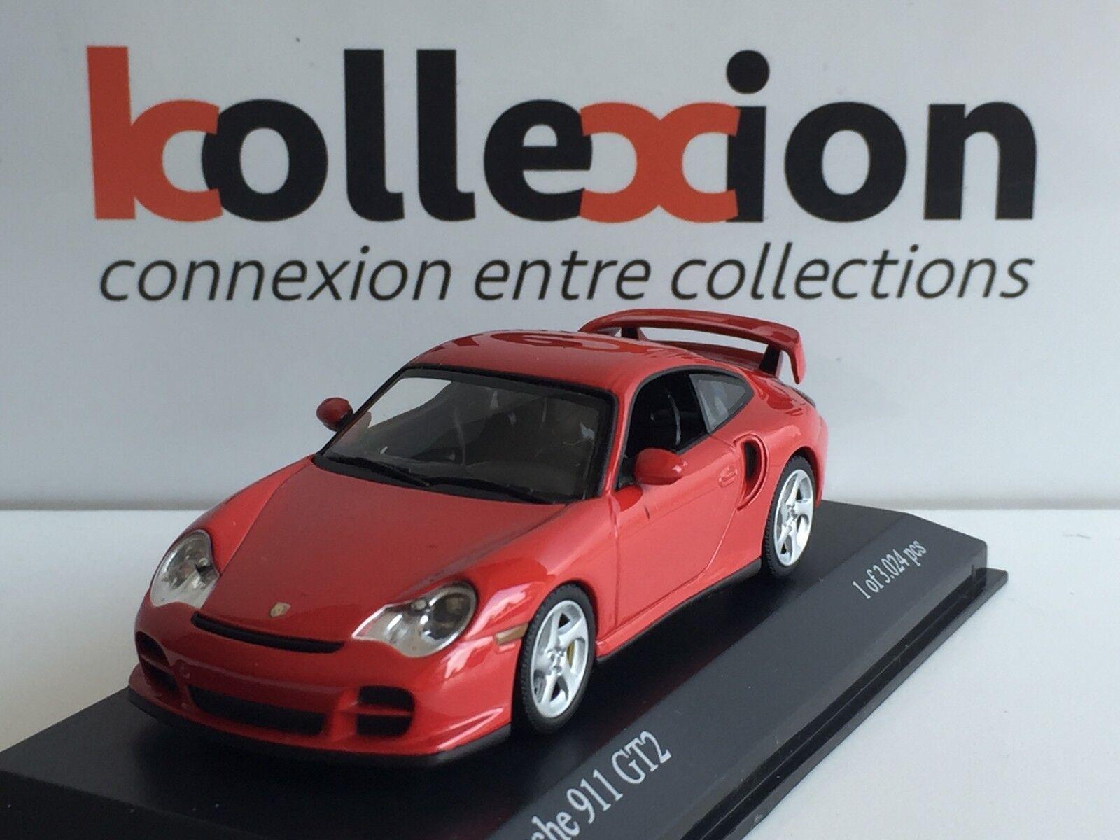 MINICHAMPS 430060120 PORSCHE 911 GT2 2001 rot 1.43 NB