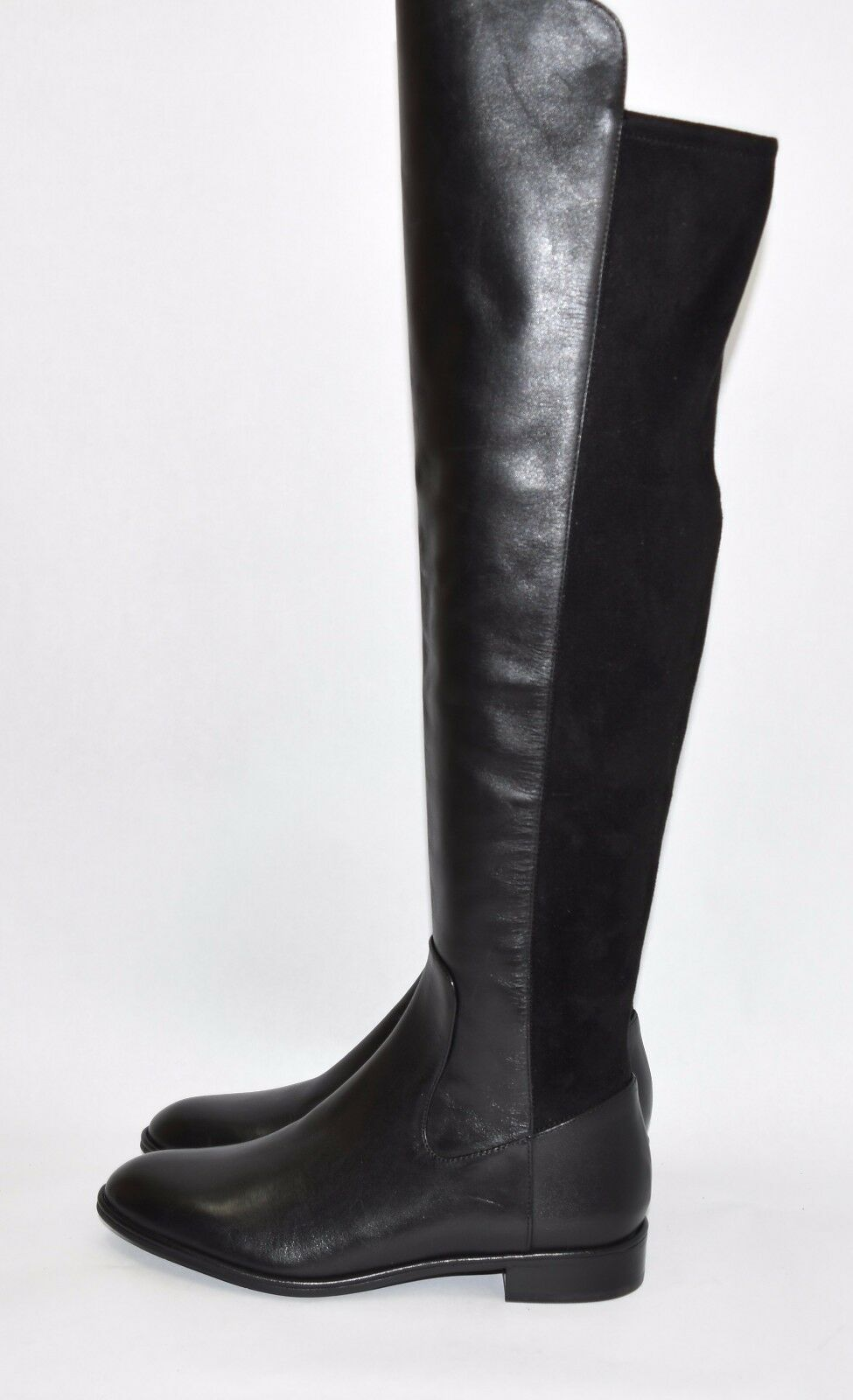 400 400 400 Via Spiga Itala Tall OVER THE KNEE riding OTK BLACK LEATHER Boot 7 37 (V2) 0081a1