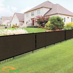 Details About 5 X 25 Ft Beige Black Green Brown Privacy Fence Screen Cover Garden Construction