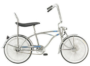 "20""  Lowrider Beach Cruiser w/68 spokes MBI Prince Chrome"