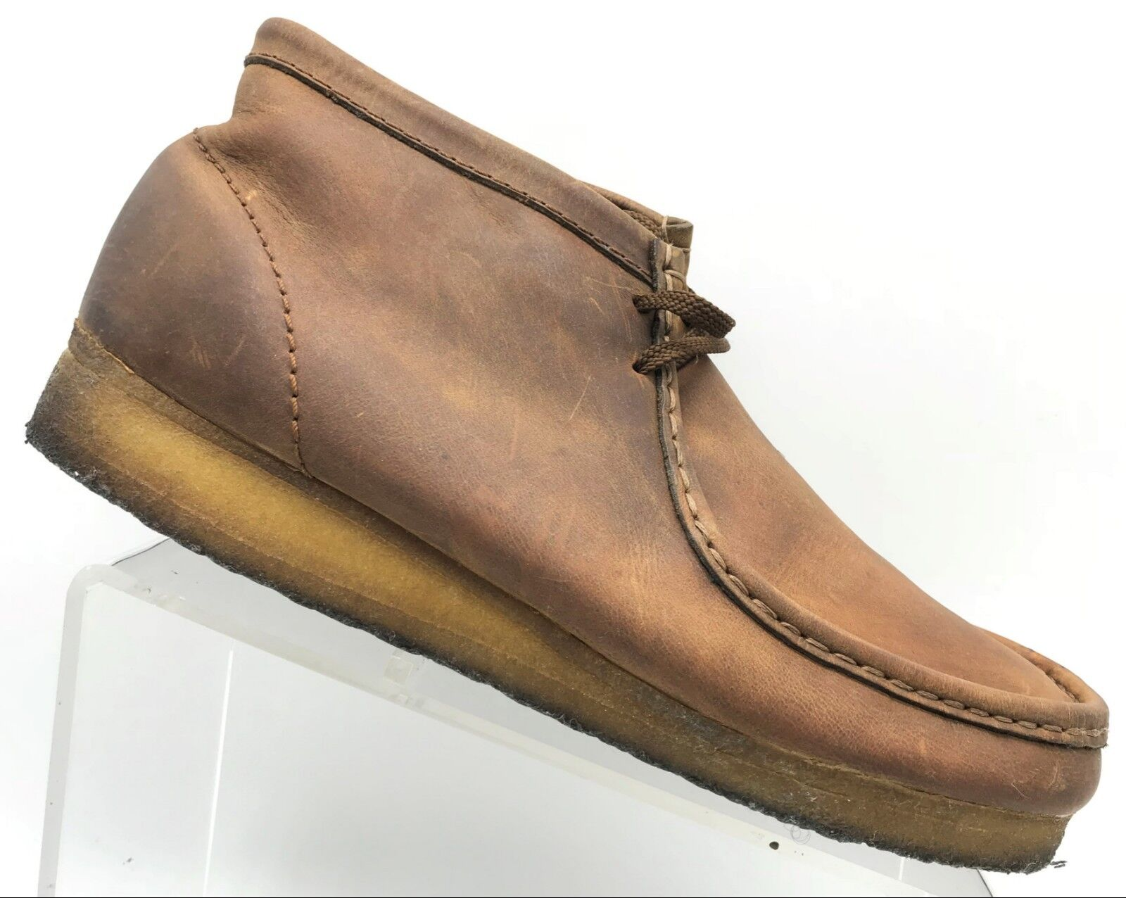 Clarks Original Wallabee Brown Leather Lace Up Chukka Boots shoes Men's 11 M
