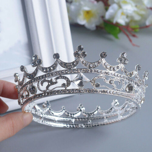 Women Ladies Full Crystal Wedding Bridal Party Pageant Prom Tiara Crown 4.5cm