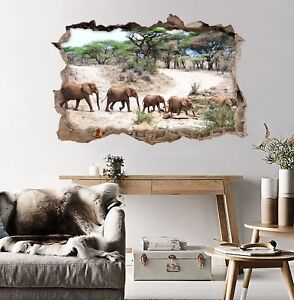 3D-Elephant-Plain2-Wall-Murals-Stickers-Decal-breakthrough-AJ-WALLPAPER-UK-Carly