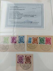 Bund FDC Posthorn aus Michel Nr. 123 138 Befund