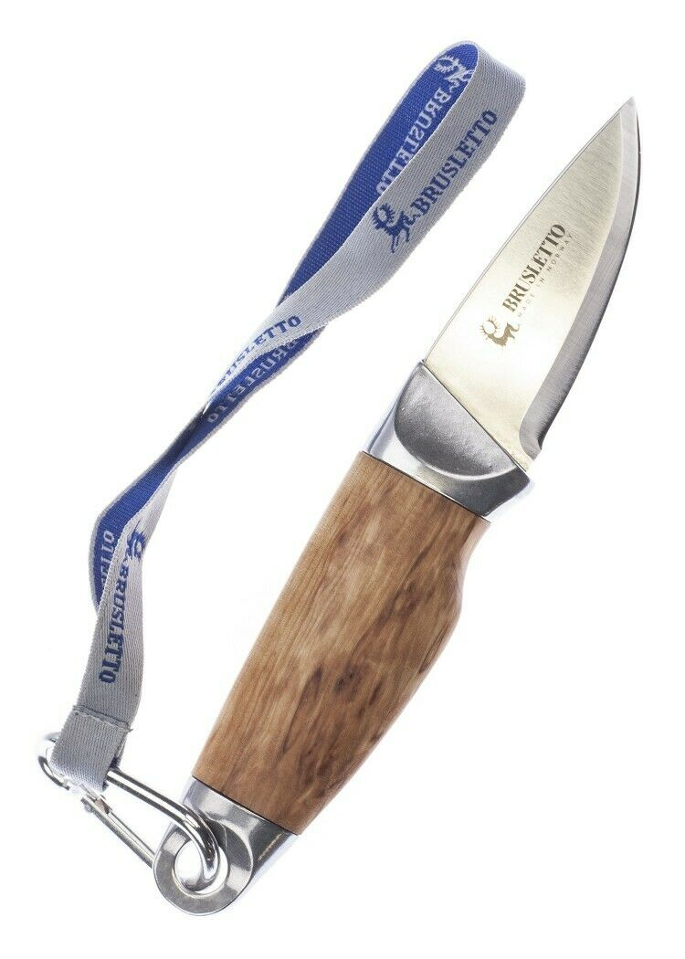 Brusletto statica COLTELLO Fjell impugnatura in legno 19,5cm Coltello Da Caccia Serramanico