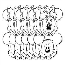 Mickey Et Minnie Mouse Couleur and Keep Carte Amusant Masques De Visage De Fête