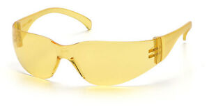 6-PAIR-1700-SERIES-AMBER-LENS-SAFETY-GLASSES