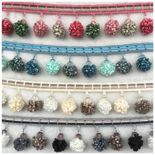 1M Curtain Sewing Tassel Fringe Trim Tassel Pom Wedding Sewing DIY Home Decor