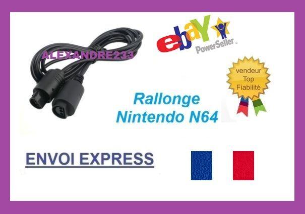 Câble d'extension Rallonge pour manette N64 Nintendo 64 - 1m80