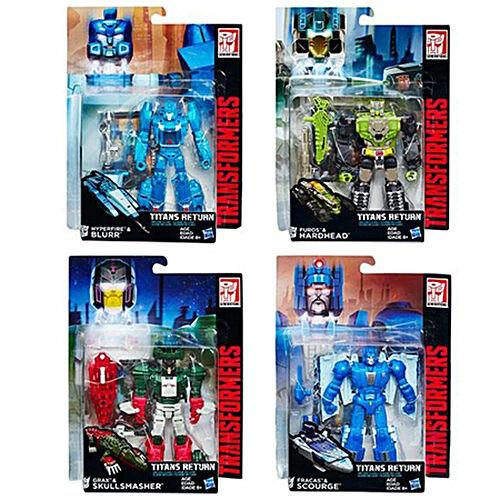 Transformers Titans Return W1 Deluxe azulrr Furos Grax Set
