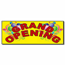 Grand Opening Baloons New Business Vinyl Banner Sign With Grommets 2 Ft X 4 Ft