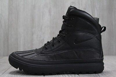 1174d17f0dc 35 Mens New Nike ACG Woodside II Leather Boots Black/Black 525393-090 SZ  9-13 | eBay
