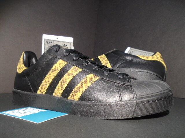 Adidas superstar, te nero lo skateboard inedito oro nero te di pelle di serpente anticipo campione 9 239d68