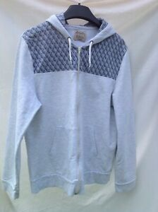BURTON-MENSWEAR-GREY-BLUE-MIX-ZIP-FRONT-HOODIE-SIZE-LARGE-CHEST-41-44-inches
