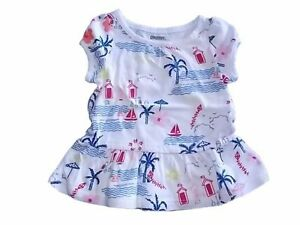 NWT Girl/'s Gymboree Shore to Love white short sleeve shirt 0 3 6 12 18 24 months