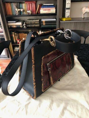 Modèle Sac Et D'origine Noir Runaway Emballage Fendi Neuf Python En Cuir E6wZHqBw
