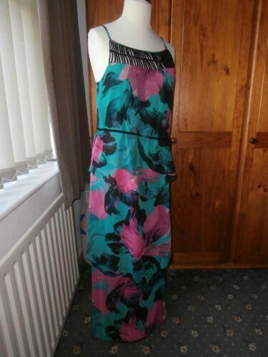 di 3 di corde Pink Black 14 Dress livelli Green a Jade Nuovo nero Maxi Next Dettaglio qzHw7qAP