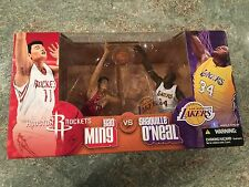 Mcfarlane Yao Ming & Shaquille O'Neal 2 pack figure set L.A. Lakers